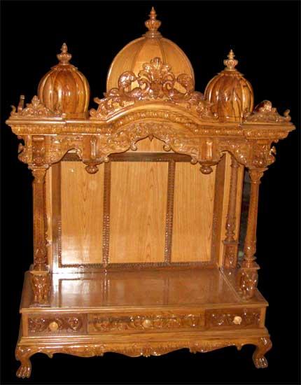 Wooden Carved Teakwood Temple Teak Wood Mandir