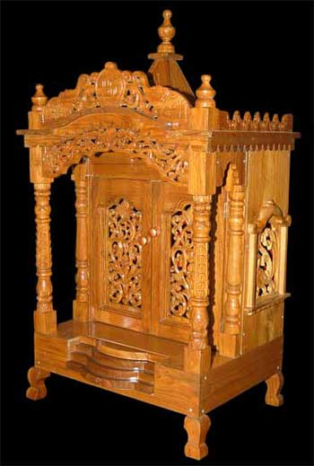 Decorative Carved Teak Wood Temple