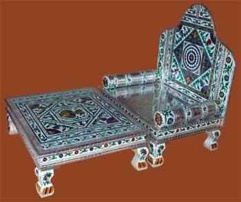 Alluminium Minakari Sinhasan & Bajoth