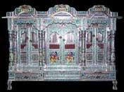 3 Doors Alluminium Minakari Temple