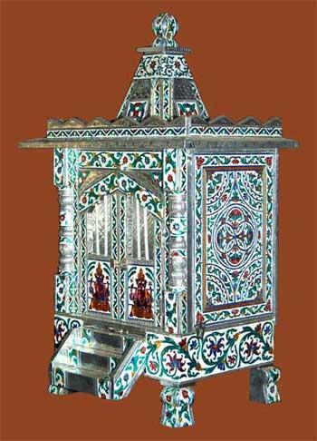 Designer Alluminium Minakari Temple