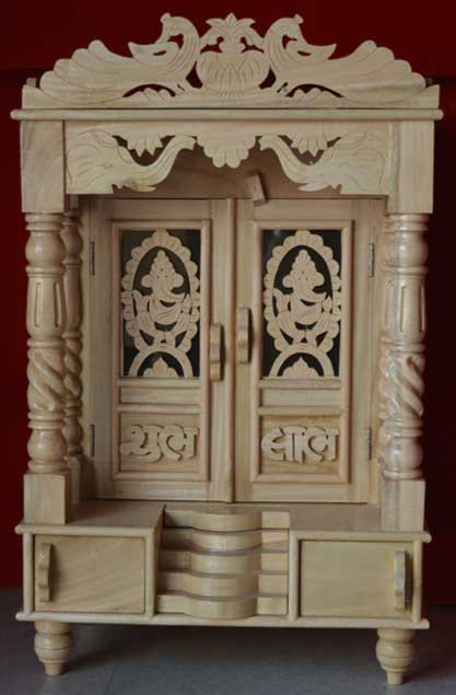 Ganpati Design Savan + Ply Wood Door Mandir